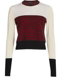 Rag & Bone Marissa Contrast Stripe Sweater - Red