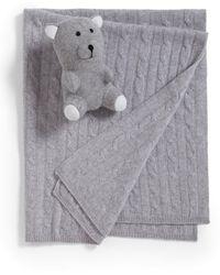 Sofia Cashmere - Two-piece Cashmere Baby Blanket & Teddy Bear Set - Lyst