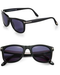 98cfcd7615d Lyst - Tom Ford Black And Blue Leo Sunglasses in Blue for Men