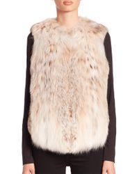 Saks Fifth Avenue - Fur Vest - Lyst
