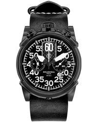 CT Scuderia Saturno Stainless Steel Watch - Black