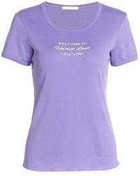 Helmut Lang Logo Slim-fit T-shirt - Purple