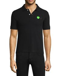 COMME DES GARÇONS PLAY Beatles Apple-embroidered Polo - Black