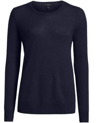 Saks Fifth Avenue Collection Featherweight Cashmere Sweater - Blue