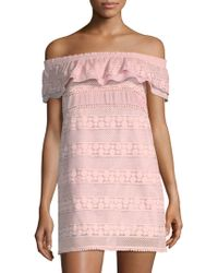 Kisuii Ania Off-the-shoulder Tunic - Pink