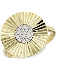 Phillips House Pavé Diamond Ring - Metallic