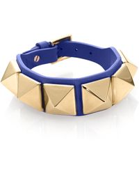 Valentino | Rockstud Large Leather Bracelet | Lyst
