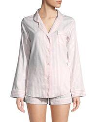 Saks Fifth Avenue - Two-piece Cotton Shorty Pyjama Set - Lyst