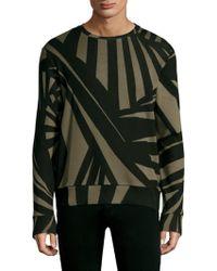 Twenty - Knit Pullover Army Sweater - Lyst