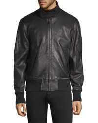 Joe's Jeans - Leather Military Bomber - Lyst