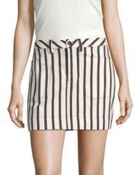 Alice + Olivia - Gail Striped Mini Skirt - Lyst