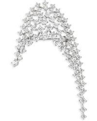 Adriana Orsini - Leia Crystal Arch Brooch - Lyst