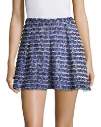 Proenza Schouler - Printed Fil Coupe Mini Skirt - Lyst