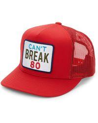G FORE - Men s Can t Break 80 Trucker Hat - Scarlet - Lyst 61158d6a354