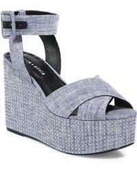 Alice + Olivia | Violet Studded Platform Sandals | Lyst