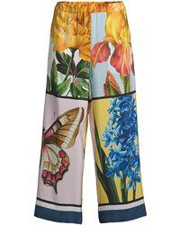 Weekend by Maxmara - Aloa Printed Silk Pants - Lyst