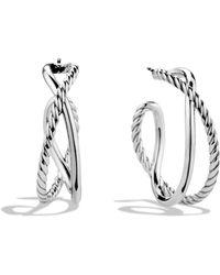 David Yurman - Crossover Hoop Earrings - Lyst