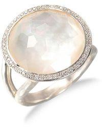 Ippolita Lollipop Medium Sterling , Mother-of-pearl & Diamond Ring - Metallic