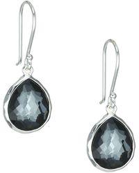 Ippolita - Rock Candy® Hematite Doublet & Sterling Silver Mini Teardrop Earrings - Lyst