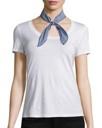 Donni Charm Gigi Cotton Neckerchief - Blue