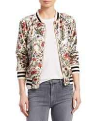 Mother - The Letterman Zip-up Bomber Jacket - Lyst