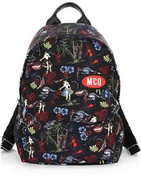 8d79e3e53fdc Lyst - Burberry Abbeydale Floral Printed Backpack in Blue for Men