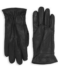 UGG 3 Point Leather Suede Gloves - Black