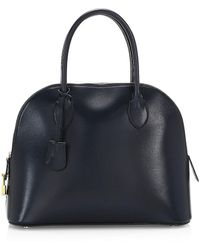 The Row Lady Bag Leather Satchel - Blue