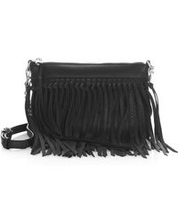 Rebecca Minkoff - Fringed Leather Crossbody Handbag - Lyst