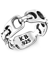 King Baby Studio Small Pop Top Sterling Silver Infinity Band - Metallic