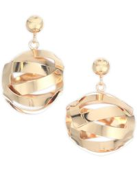 Paula Mendoza Unilla Globe Drop Earrings - Metallic