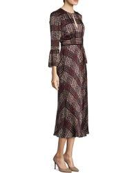L.K.Bennett - Silk Bell Sleeve Dress - Lyst
