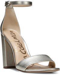 Sam Edelman - Yaro Leather Ankle-strap Pumps - Lyst