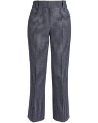 Fendi Gingham Cashmere-blend Tailored Pants - Gray