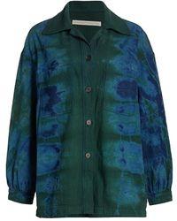 Raquel Allegra Tie-dye Explorer Jacket - Green