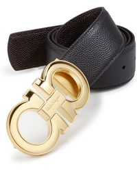 Ferragamo - Mini Chicco Excel Nero Leather Belt - Lyst