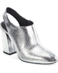 Michael Kors - Clancy Metallic Leather Booties - Lyst