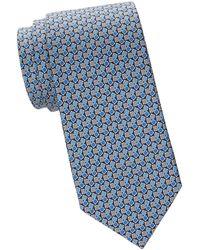Ferragamo - Tricolor Gancini Silk Tie - Lyst