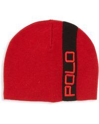 Ralph Lauren - Kid's Merino Wool Logo Hat - Lyst
