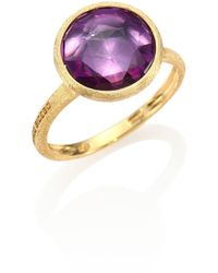 Marco Bicego - Jaipur Amethyst & 18k Yellow Gold Medium Stackable Ring - Lyst