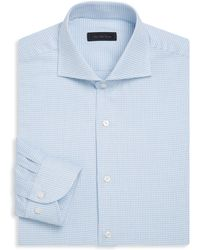 Saks Fifth Avenue - Collection Classic-fit Chequered Cotton Dress Shirt - Lyst
