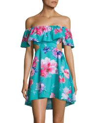 6 Shore Road By Pooja - Main Off-the-shoulder Floral Beach Dress - Lyst