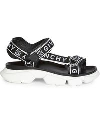 Givenchy Jaw Logo-jacquard Leather Sandals - Black