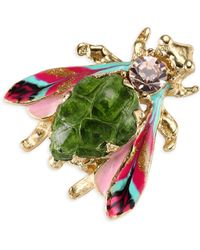 Gas Bijoux - Glass Cabochon Insect Brooch - Lyst