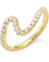 Carelle - Brushstroke N° 6 Diamond & 18k Yellow Gold Ring - Lyst