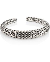 John Hardy - Classic Chain Sterling Silver Cuff Bracelet - Lyst