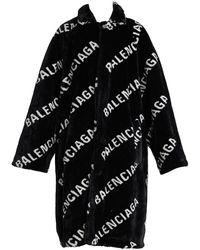 Balenciaga Ao Fur Coat - Black