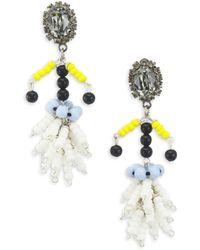Marni - Crystal Embellished Bead Drop Earrings - Lyst