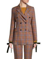 Beatrice B. - Colors Conversation Double Breasted Houndstooth Blazer - Lyst