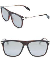 Alexander McQueen - 16mm Wayfarer Sunglasses - Lyst